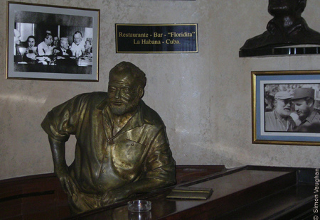 Ernest Hemingway in the Bar Floridita