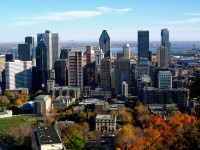 View over Downtown Montreal